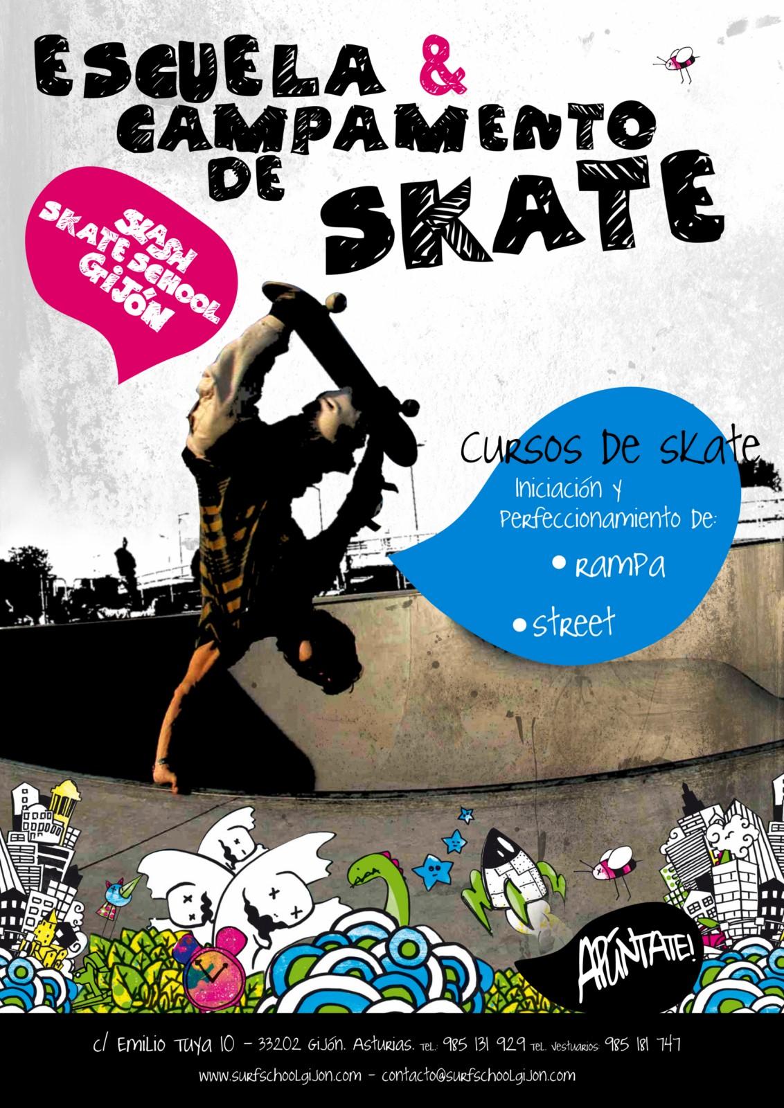 Cartel del Skate Camp y Escuela de Skate
