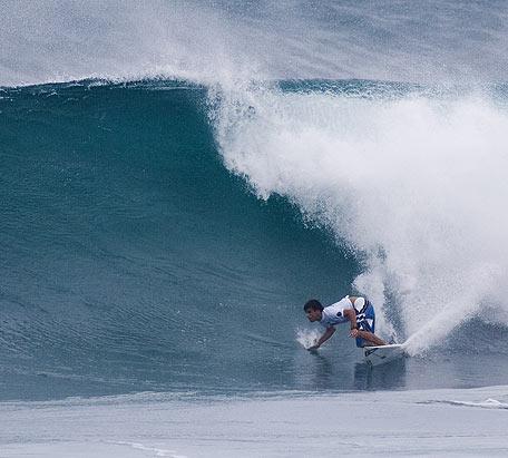 Hodei Collazo en el campeonato de Sunset en Hawai hace un mes