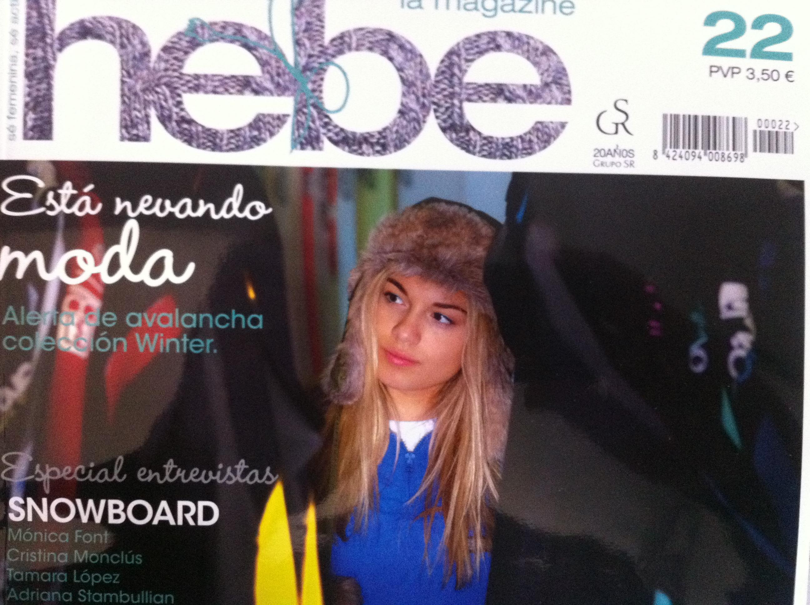 Evelina Usenco portada de Hebe Magazine