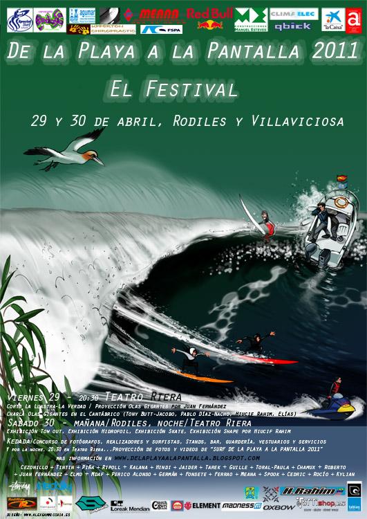 """Cartel de la 2ª edición de """"De La Playa A La Pantalla 2011"""""""
