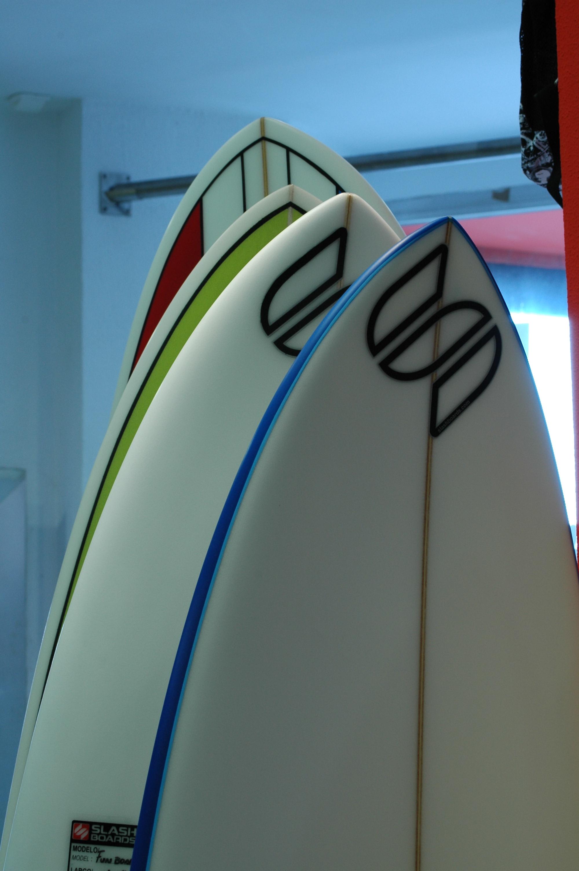Diferentes tipos de tablas, para diferentes tipos de surfistas.
